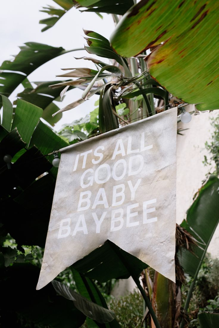 Notorious BIG inspired signage for this 1st Birthday party Photography : Hazelnut Photography Read More on SMP: http://www.stylemepretty.com/living/2016/07/29/this-1-year-olds-notorious-big-baby-baybee-bash-is-off-the-chains/