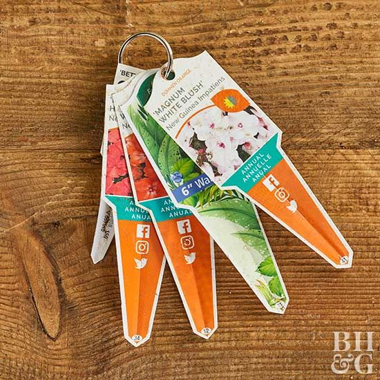 plant identification tags  --- so simple! Love it!