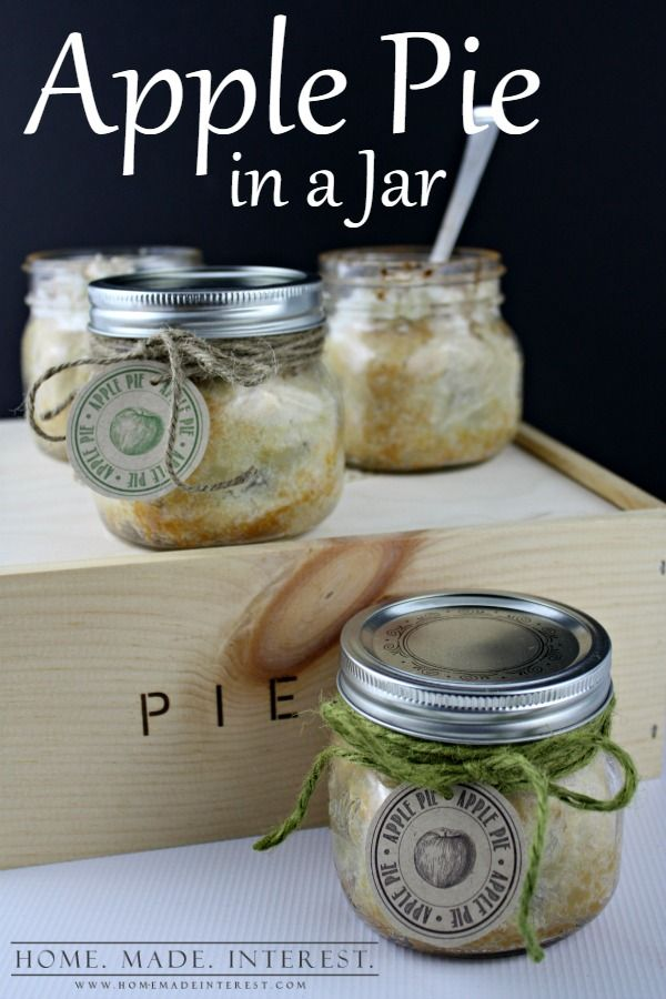 I love giving people homemade gifts, especially edible ones. If that git happens to come in a jar bonus points! This easy apple pie in a jar recipe can be made quickly and one recipe makes 4 pies so you can give multiples to your friend or make 4 gifts at one time! We've even got a printable gift tag for you all you have to do is print it out. #BRMHolidays #CleverGirls