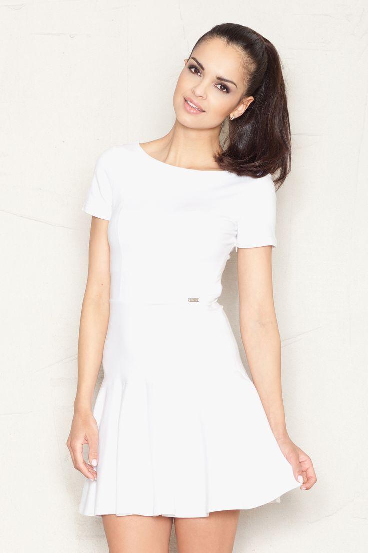 Bawełniana sukienka z falbaną ● GrandeSaldi