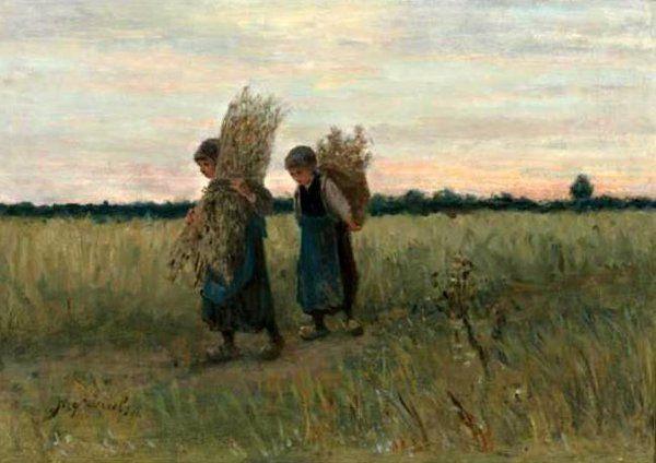 Returning Home, Jozef Israëls (Jozef Israels) (1824-1911)