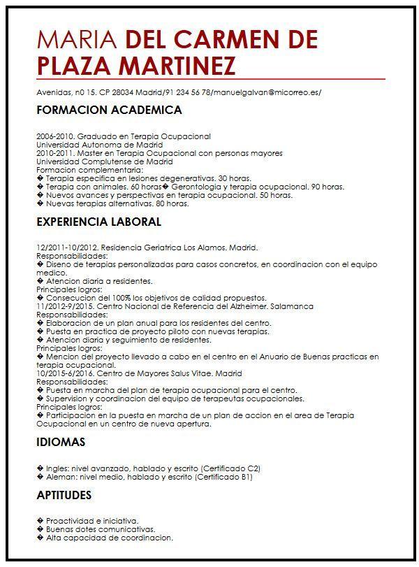 Un Curriculum Vitae Para Trabajo Modelo De Curriculum Vitae Curriculum Vitae Resume Words Curriculum Vitae Format