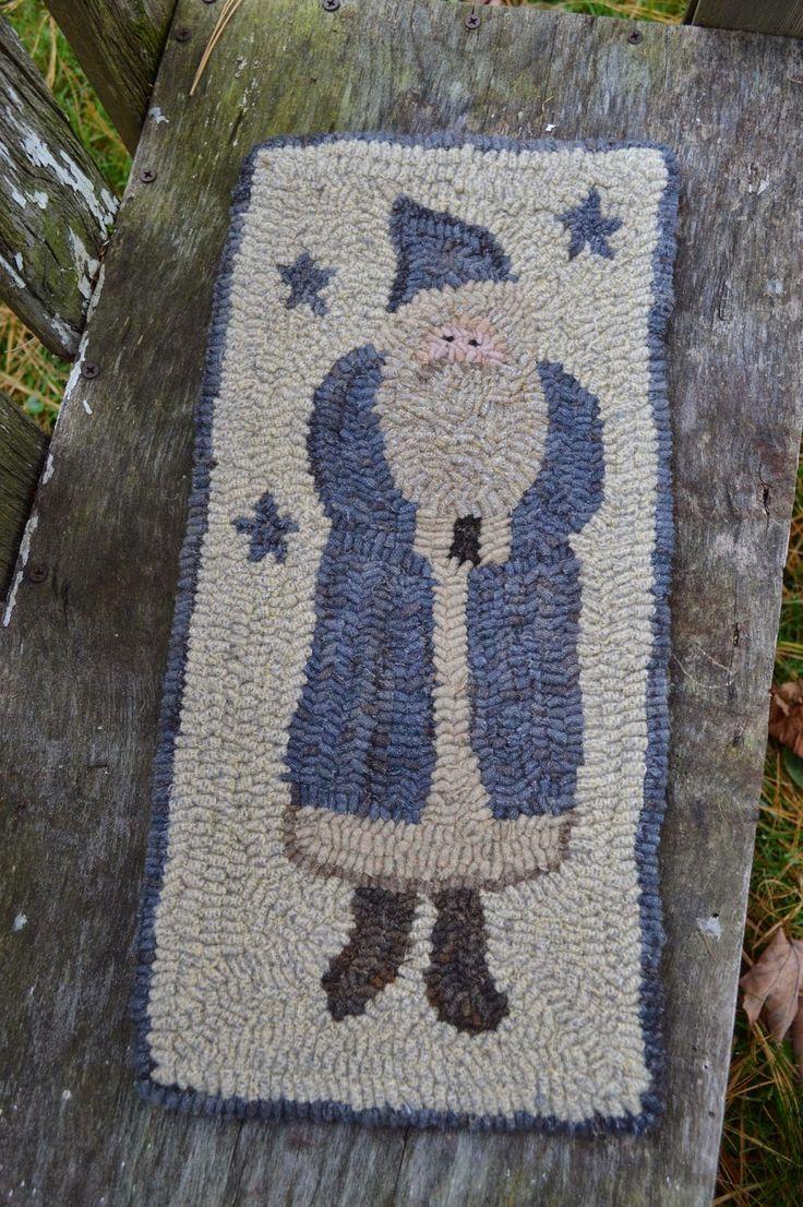 Best hooked rugs santa images on pinterest rug