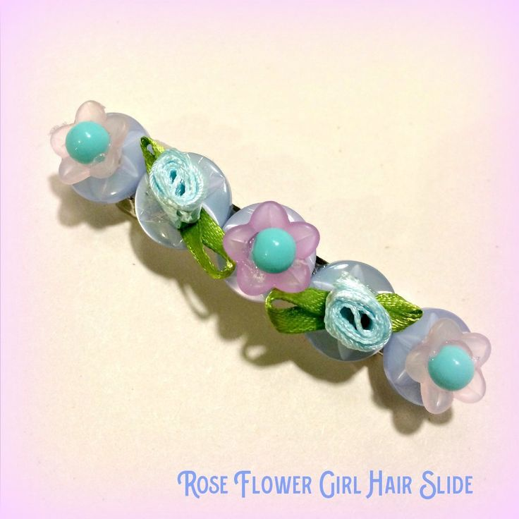 Flower girl bridesmaid rose hair slide