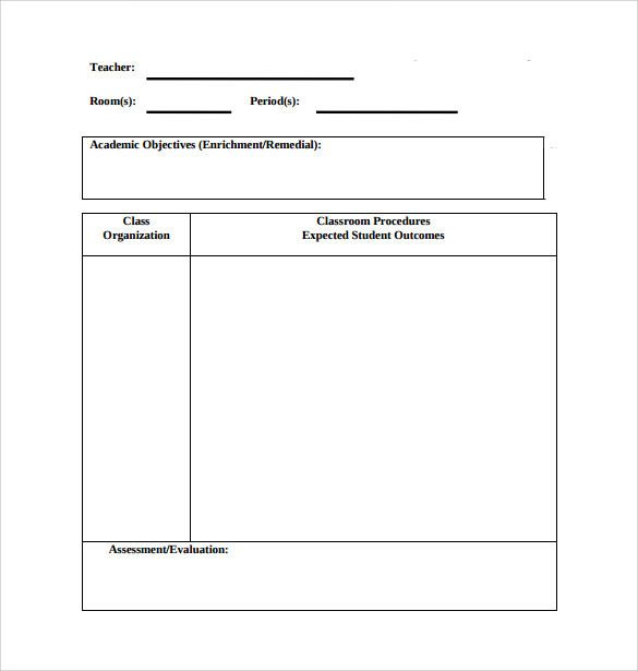 Pin On Lesson Plan Template Printables