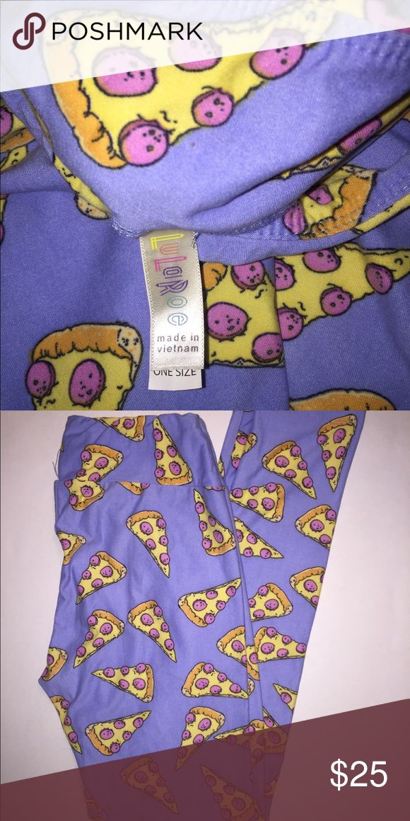 Lularoe pizza leggings 🍕 Love these! Never worn, run a little small for OS. Would probably fit a 0-8. Made in Vietnam LuLaRoe Pants Leggings