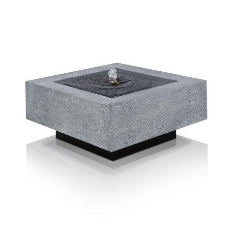Brunnen, LED-Beleuchtung, Stein Vorderansicht