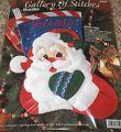 """1995 Bucilla """"Santa Face"""" Felt / Jewe..."""