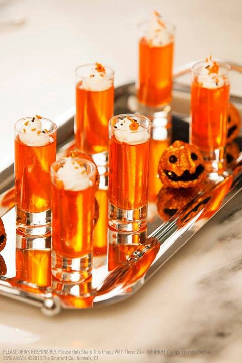 Spooky Shooters  Orange jello shots
