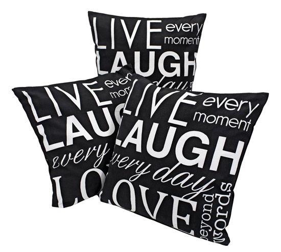 inspiracje w moim mieszkaniu: Poduszki z typografią w przeglądzie po sklepach / ...