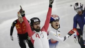 Charles Hamelin and Kim Boutin put Team Canada on the podium at the last ISU World Cup Short Track stop...