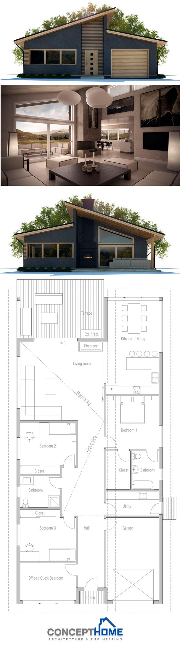 1000+ ideas about Modern Home Plans on Pinterest Home Plans ... - ^