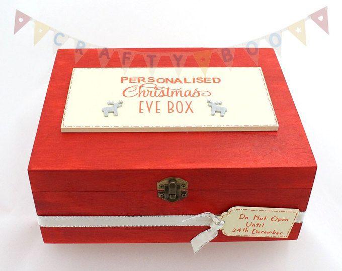 Personalised Christmas Eve box, Christmas Eve Box, Wooden Christmas Eve Box, Children's Christmas Box, Xmas Eve Box, Personalised Christmas