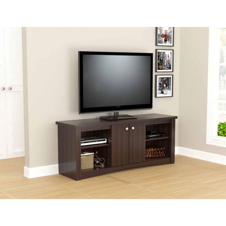 Inval Transitional Espresso 60-inch TV Stand