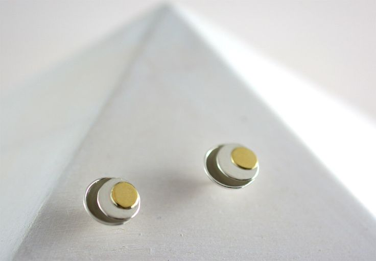 A personal favorite from my Etsy shop https://www.etsy.com/ca/listing/470961797/sterling-silver-and-18k-gold-stud