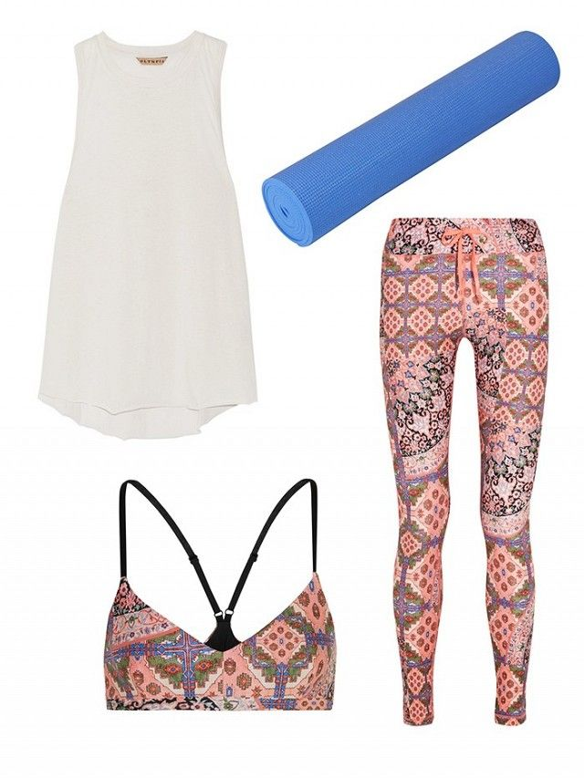 Have fun with your yoga outfit and opt for a bold print. No one ever said activewear had to be boring.