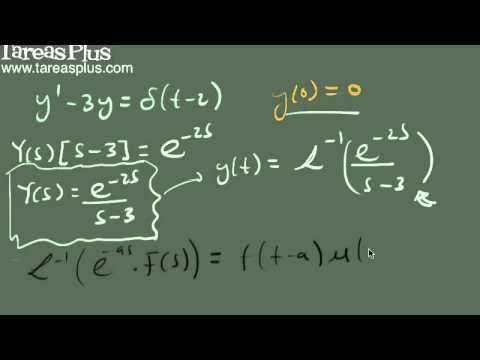 Solución ecuación diferencial que contiene la función Delta de Dirac
