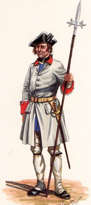 SYW- France: French Regiment Reinne, 1757-1760, by R. Marrion.