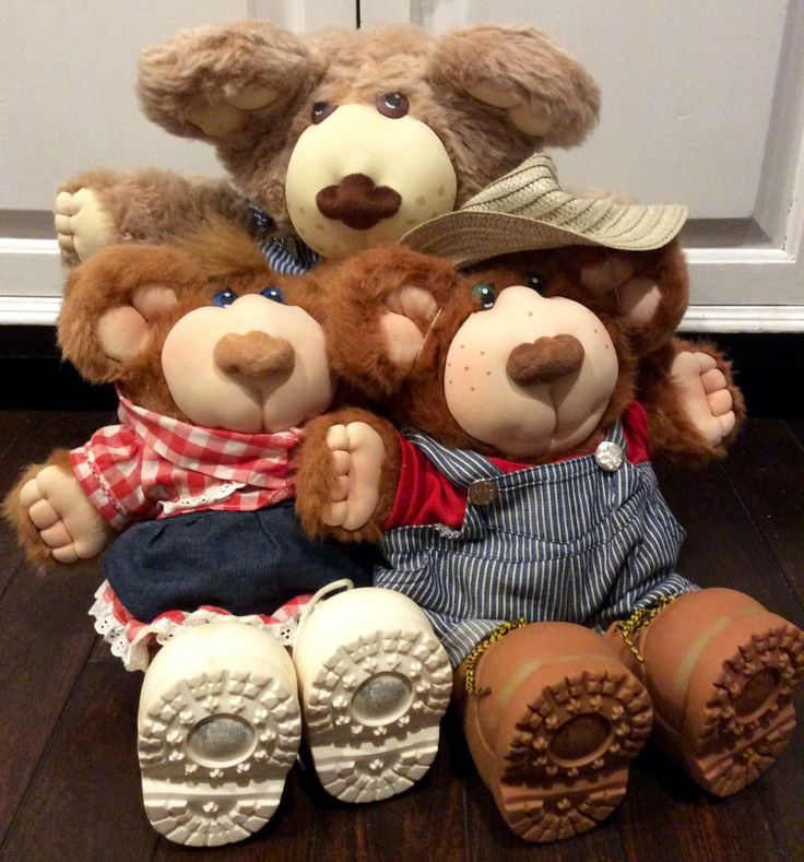 1985 Furskins Family Dudley, Cecelia & Bubba by Xavier Roberts, Furskins Bears, Furskin, Dudley Furskin, Cecelia Furskin, Bubba Furskin by Lalecreations on Etsy
