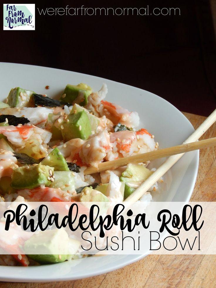 Philadelphia Roll Sushi Bowl http://werefarfromnormal.com/2016/03/philadelphia-roll-sushi-bowl.html
