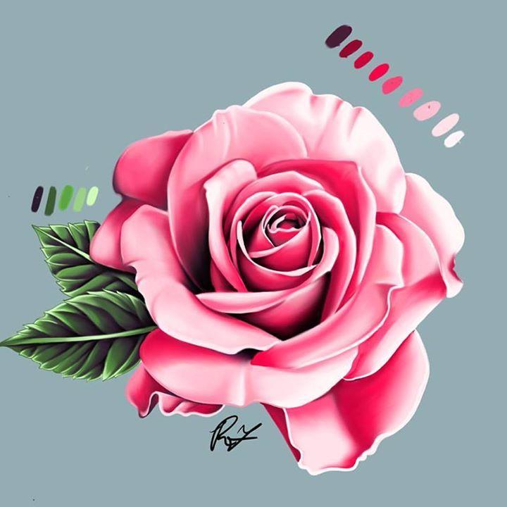 rose flowers digital design - photo #31
