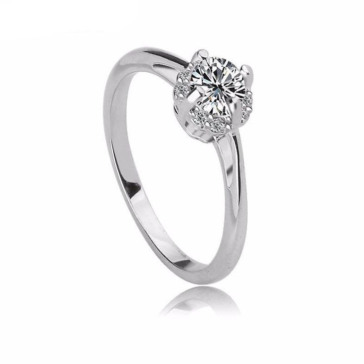 Shiny Cupid Cut Cubic Zirconia Promise Rings