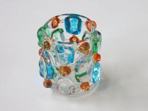 RETRO-1970s-Decor-Small-Multicoloured-Glass-Candle-Holder-Made-in-Japan Sticker