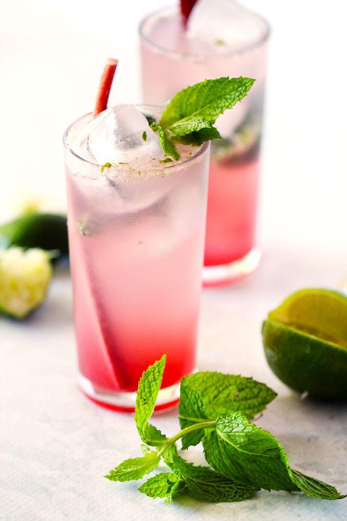 Rhubarb Mojitos | Recipe | Health diet, Health and Drinks