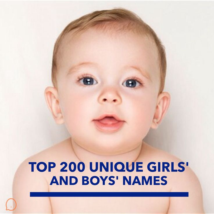 Top 200 Unique Girls' and Boys' Names | Women on the Verge