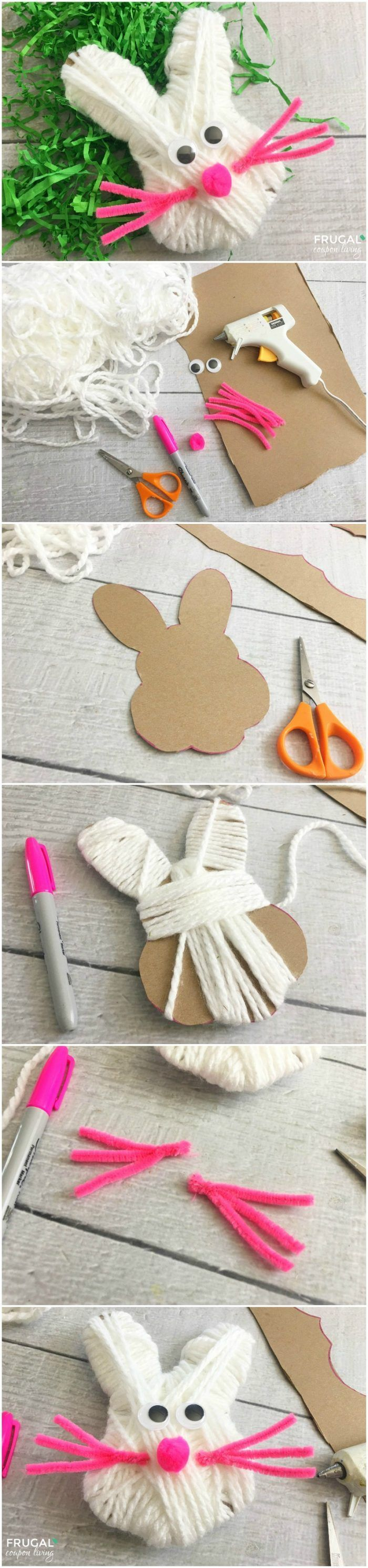Preschool Bunny Easter Craft for Kids on Frugal Coupon Living.