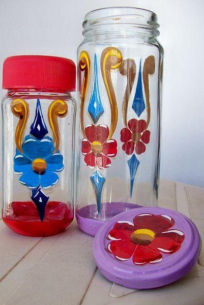 Frascos pintados buscar con google decoracao de - Frascos de vidrio decorados ...