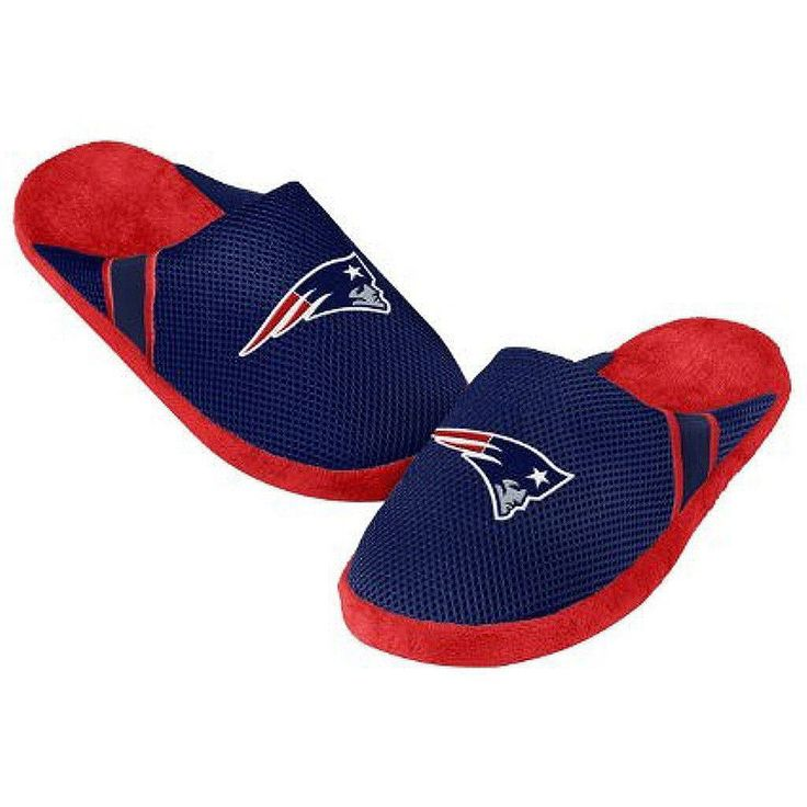 NFL New England Patriots Jersey Slippers [Men's Medium - Size 9-10 US]