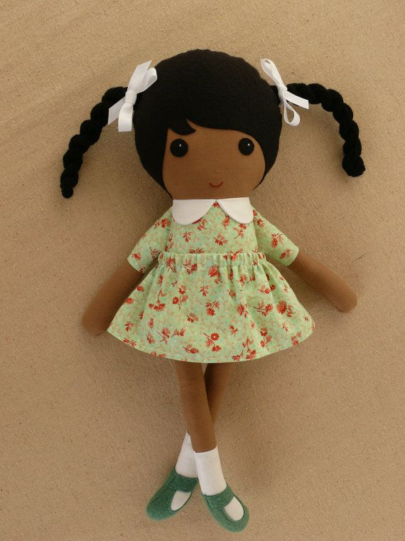 Reserved for Mrs J Gray  Fabric Doll Rag Doll Small por rovingovine