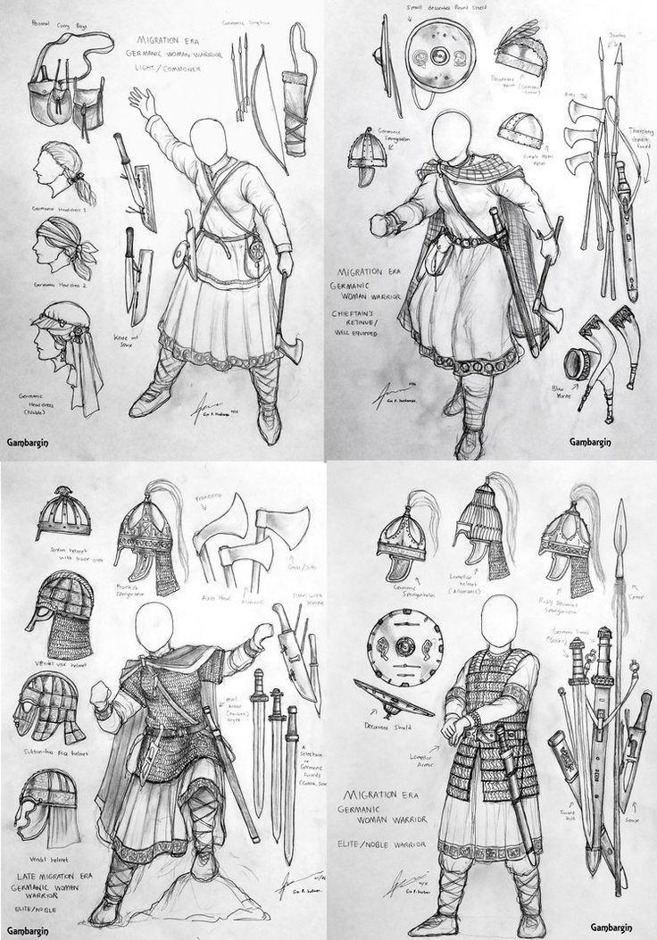 Migration Era Germanic Women Warriors Concept by Gambargin on DeviantArt