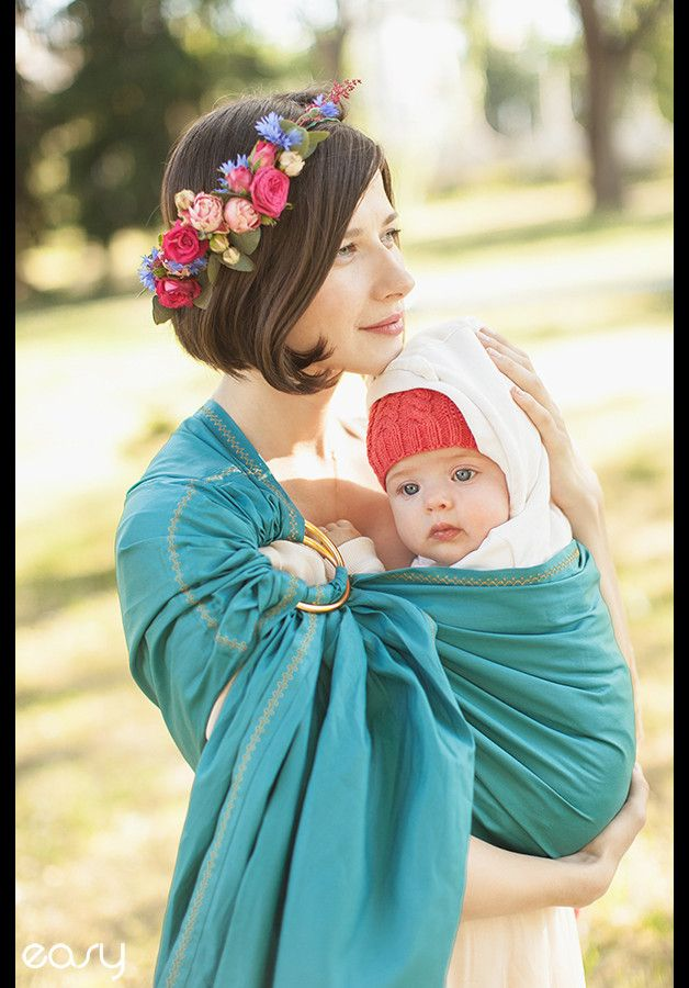 Baby Slings & Carriers – Baby ring sling - Baby Carrier - Card as a gift – a…