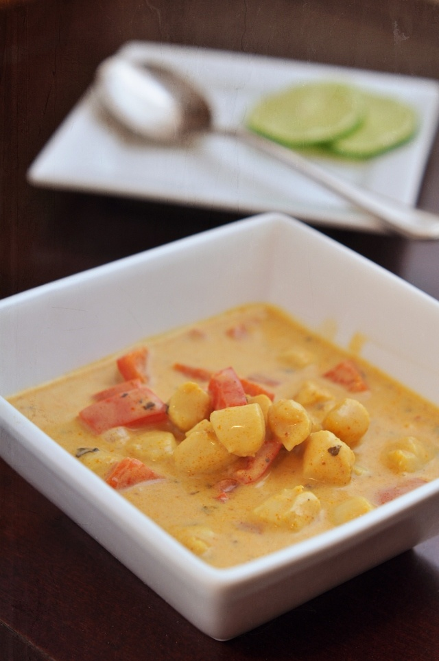 Quick Seafood Curry - I always have some marinara mix in the freezer and this recipe doesn't require any ingredients I don't already  have.