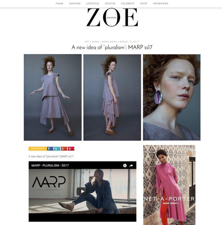 MARP SS17 on the ZOE magazine #zoemagazine