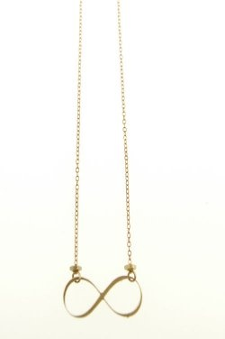 Infinity symbol necklace, darling