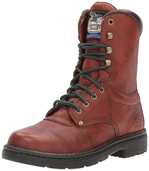 Georgia Men S 8 Eagle Light Lace Up Work Boot Round Toe G8083 Review Work And Safety In 2019 Light Work Boots Georgia Boots Boots