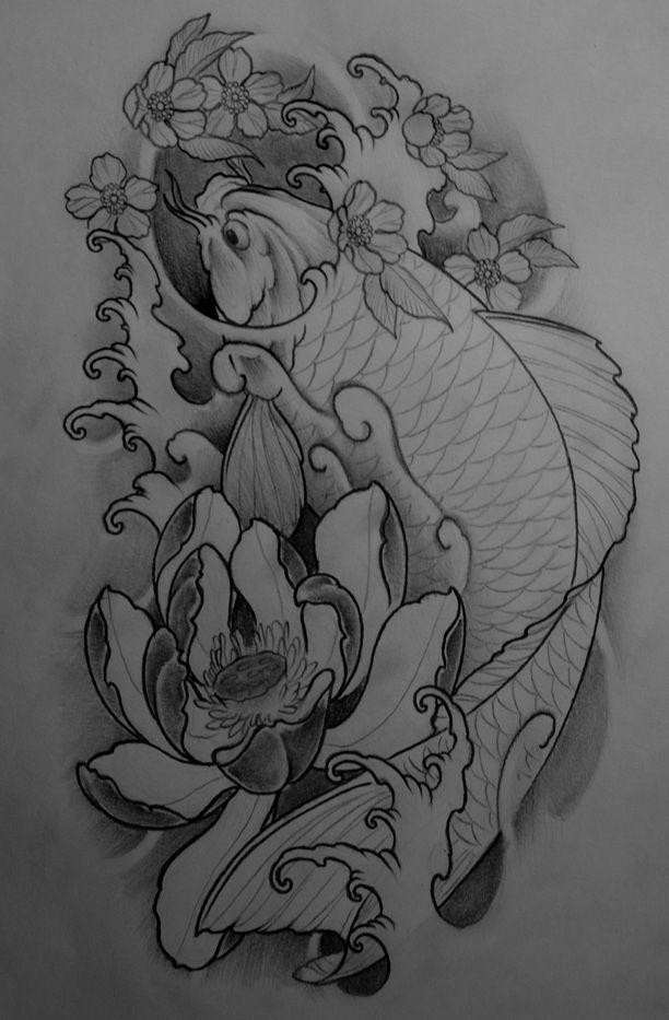 koi lotus tattoo   koi lotus tattoo by ~TeroKiiskinen on deviantART