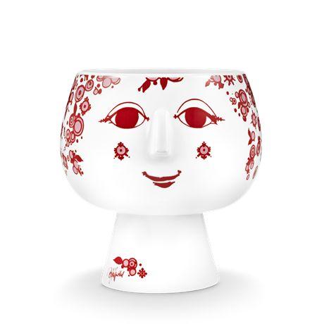 Juliane, Bjørn Wiinblad's long-necked, red pot plant holder, is one of the colour-happy, multi-talented artist's best-known and best-loved designs. #bjørnwiinblad