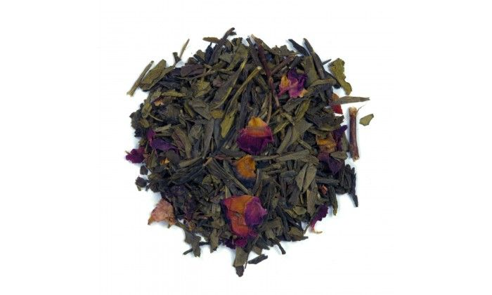 Cranberry Green Tea: This organic loose leaf tea is full of all the berry flavours you are craving. Blended with a premium black tea the colour in the cup is bright copper. Ingredients: Sencha, Dried cranberries, Rose petals and Natural flavouring.