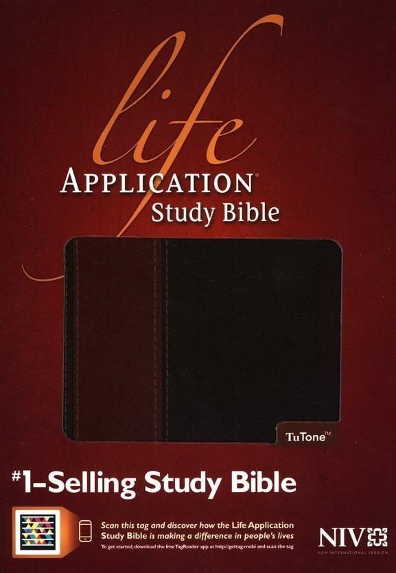 NIV Life Application Study Bible, TuTone Brown/Tan Indexed