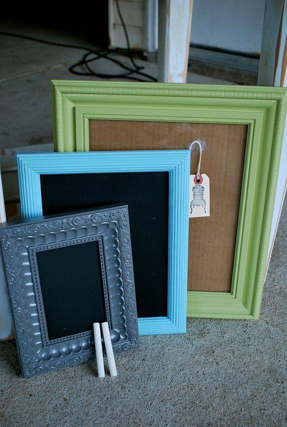 Picture Frame & Chalkboard Frames for by rawandrepurposed on Etsy, $38.00