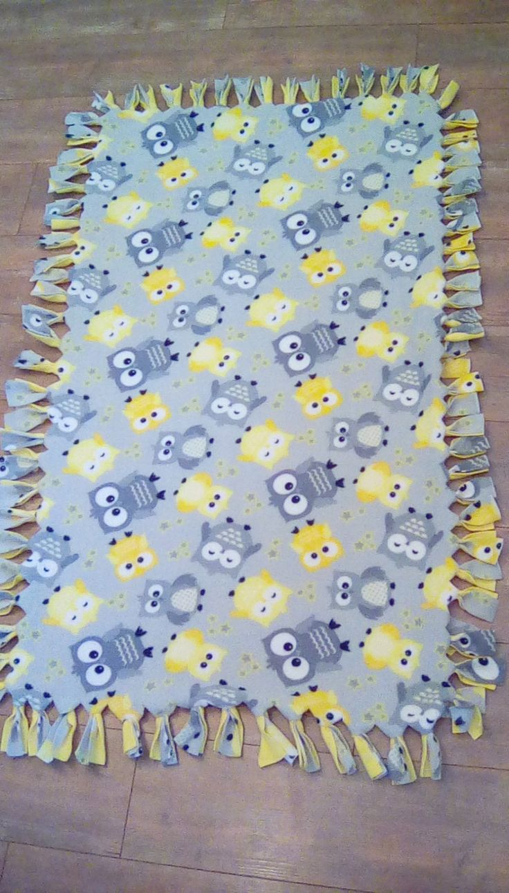 Owl Fleece No Sew Blanket by RogueUnicornCrafts on Etsy
