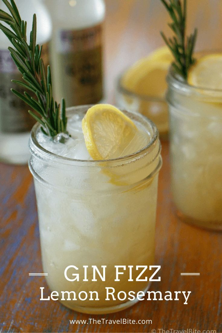 Lemon Rosemary Gin Fizz a recipe inspired by Italy.