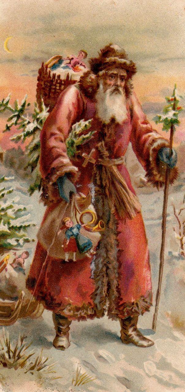 antique Santa Postcard