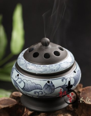 Incense holder, embedded with blue China pattern: Patterns Orientart, China Patterns, Orientart China, Blue Haven, Incen Holders, Blue China, Incense Holders, China Japan, Embed