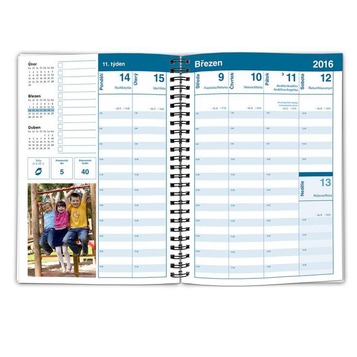 Náhled kalendária diáře.
