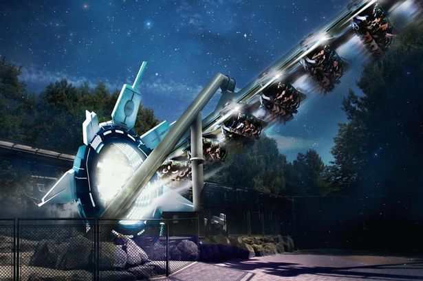 Another shot from Galactica at Alton Towers